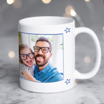 Fathers Day Personalised Blue World's Best Ceramic Mug