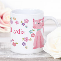 Personalised Cute Fabric Cat Mug
