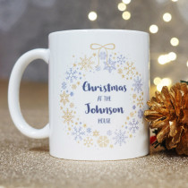 Christmas Family Wreath Non Photo - Ceramic Mug