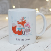 Christmas Fox And Owl Hers Non Photo - Ceramic Mug
