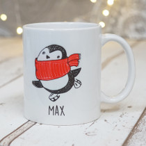 Christmas Penguin Three - Ceramic Mug