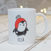 Christmas Penguin Four - Ceramic Mug