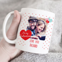 Personalised Be My Valentine Photo Mug