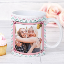 Personalised Pink Frame Photo Mug