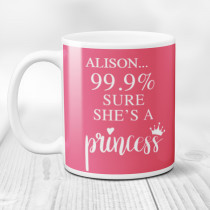 Personalised 99.9% Princess Mug