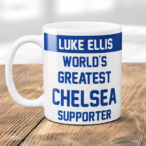 Personalised Chelsea Football Supporter Mug