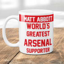 Personalised Arsenal Football Supporter Mug