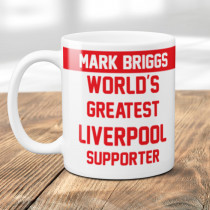 Personalised Liverpool Football Supporter Mug
