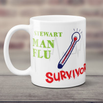 Personalised Man Flu Survivor Mug