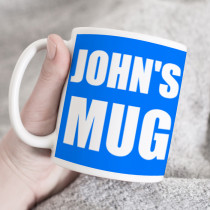 Personalised Any Colour Background Mug