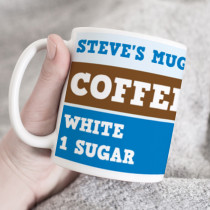 Personalised Coffee/Tea Blue Mug