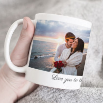Personalised Love Photo Mug With Text