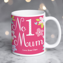 Personalised Number 1 Mum Mug
