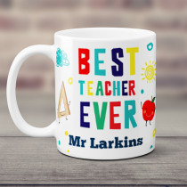 Personalised Best Teacher Ever - Mug