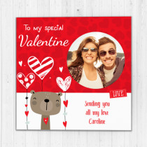 Valentine's Cute Photo Upload - Luxury Greeting Card