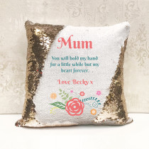 Personalised Mum Reversible Sequin Cushion