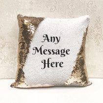 Personalised Any Message Landscape Reversible Sequin Cushion