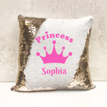 Personalised Princess Magic Sequin Cushion