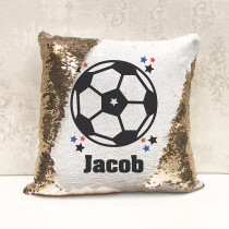 Personalised Football Reversible Sequin Cushion