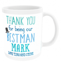 Personalised Best Man Wedding Gift - Mug