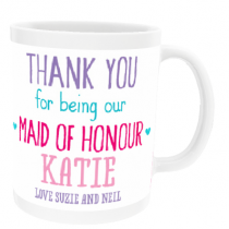 Personalised Maid of Honour Wedding Gift - Mug