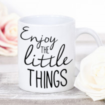Personalised Enjoy the Little Things Mug