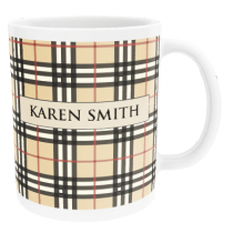 Personalised Burberry Pattern Spoof - Mug