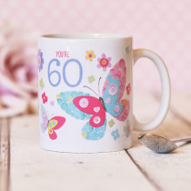 Personalised Itsy Bitsy Birthday Butterfly Mug