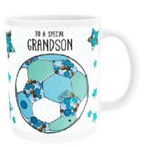 Personalised Itsy Bitsy Football (Grandson) - Mug