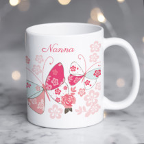 Personalised Blush Boutique Butterfly Mug