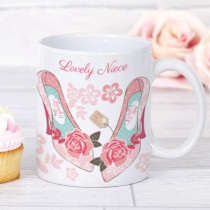Personalised Blush Boutique Shoes Mug