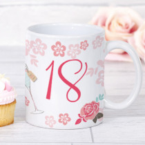 Personalised Blush Boutique Birthday Champagne Mug