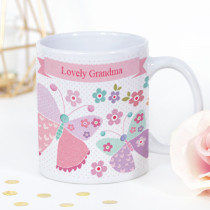 Personalised Sweet Dreams Pink Butterfly Mug