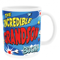 Personalised Grandson Comic Book - Mug