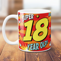 Personalised 18th Birthday Comic Book Mug