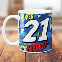 Personalised 21st Birthday Comic Book Mug