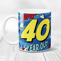 Personalised 40th Birthday Comic Book Mug