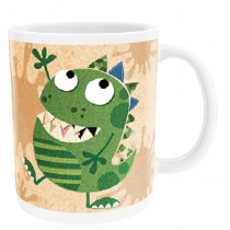 Personalised Funny Dinosaur with Big Birthday - Mug