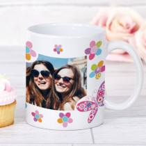 Personalised Sunshine Flowers Photo Mug