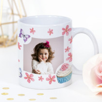 Personalised Cupcakes And Butterflies Photo Mug