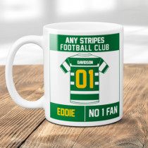 Personalised Choose Your Football Team Hoops Mug