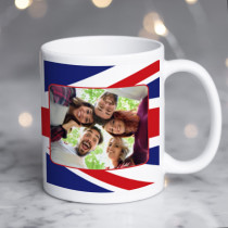 Personalised Union Jack Photo Mug