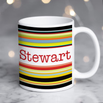 Personalised Stripes Name Mug