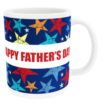 Personalised Grunge Stars for Father's Day - Mug