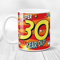 Personalised 30th Birthday Comic Book Mug