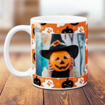 Personalised Happy Halloween Ghosts and Pumpkins with Photo Upload - Mug