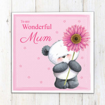 Personalised Party Paws Flower Luxury Fabric Card