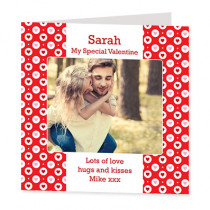 Personalised Valentine Hearts in Spots with Photo Upload - Luxury Greeting Card