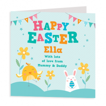 Personalised Easter Kids Design - Luxury Greeting Card