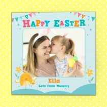 Personalised Easter Kids Design With Photo Upload- Luxury Greeting Card